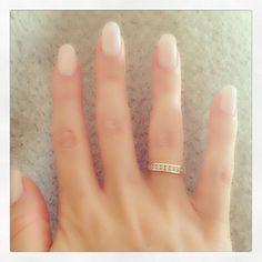 My new white nails, round