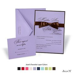 Orchid Layered Wedding Invitation-Michaels-love this