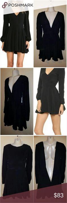 Lovers + Friends Black Dress Lovers + Friends size XS black full zip (back see photo 3) fully lined skirt. Lovers + Friends Dresses Mini