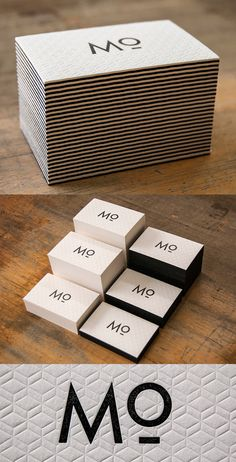 Unique Letterpress Business Card For An Interior Designer