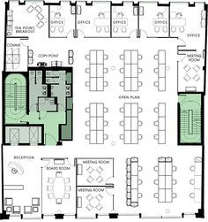Image of: home office plans floor emily tocco ideas for one bedroom apartment with study Office Layout Plan, Office Floor Plan, Floor Plan Layout, Office Layouts, Office Building Plans, Building Layout, Building Design, The Plan, How To Plan