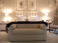 Sophisticated and serene bedroom.   Splendid Sass: CHARLES SPADA ~ INTERIOR DESIGN