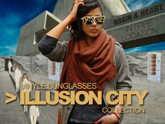 """""""ILLUSION CITY"""" vinyle shades by Strange Froots"""