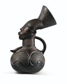 Africa   Anthropomorphic Terracotta Jar from the Mangbetu people of then Stanleyville (now Kisangani), Democratic Republic of Congo   ca. 1921 - 1945.