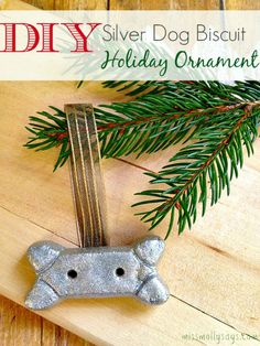 Are you looking for some fun dog themed holiday ornaments? If so, you will want to give this silver dog biscuit Christmas tree ornament a try!