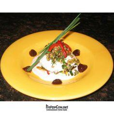 Coconut ravioli at Chef Sara's Raw Vegan Academy & Cafe in Cave Creek, Arizona