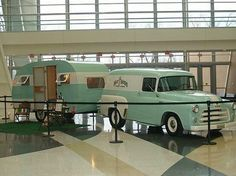 Rare 1954-56 Dodge panel truck and matching camper
