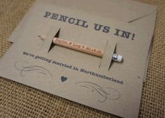 Save the Date - Pencil Us In Pencils and Backing Cards