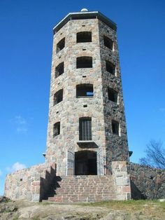 Enger Tower  Duluth Minnesota. There are numerous lookouts at each level of the octagonal tower, with a stair case taking you all the way to the top.  Each level offers fantastic photographic opportunities from every vantage point.