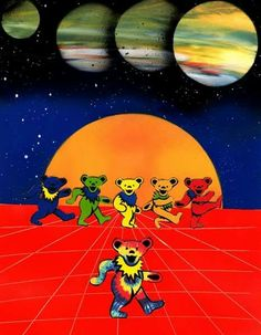 Grateful Dead Bears, Terrapin, Good Ole, Best Part Of Me, Full Moon, Thankful, Gal Gardot, Painting, Bob Weir
