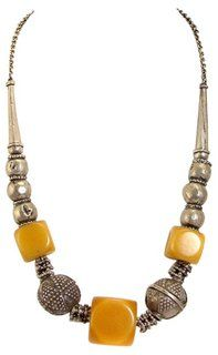 Yemeni Yellow Amber & Silver Necklace