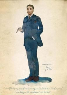 A sketch of Tom Buchanan from Martin.