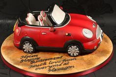 Red Mini Convertible Cake side view | by Kingfisher Cakes
