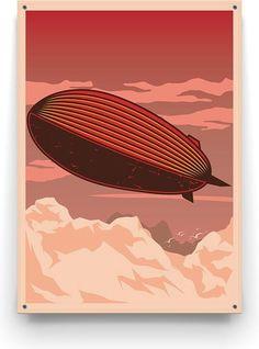 Vintage Zeppelin! Geniet optimaal van de zomer in eigen tuin en geef het een extra gezellig en knusse uitstraling met de moderne designs van Made on Friday. Zeppelin, Modern Design, Art Deco, Vintage, Contemporary Design, Art Decor