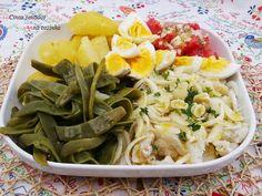 Cinco sentidos na cozinha: Bacalhau frio desfiado com batata, feijão verde e ...