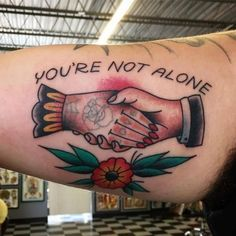 See more here: http://the-art-of-ink.com/youre-not-alone-by-rclarketattoos-at-tattoo-paradise-in/