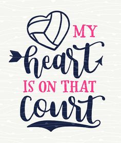 Baseball Alley Designs - My Heart Is On That Court Volleyball Tee, $26.00 (baseballalley.net...)