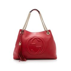 9180ca0ff8e6 Pre-Owned Gucci Leather Soho Medium Shoulder Bag ( 1