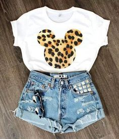 Fashion Walt Disney Micky Mouse Leopard Shorts Tank   | http://teespring.com/womensitdirect