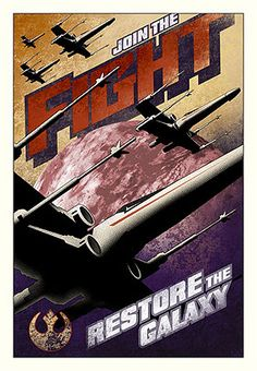 JOIN THE FIGHT  by M Kungl  Star Wars Art published by ACME Archives
