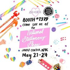 ugh so excited for our first year at #NSS2017 @stationeryshow!!! 💌🌟💌🌟💌🌟 . . .  #stationery #greetingcards #graphicdesign #illustration #stationerydesign #illustrator #supportlocalart #supportsmallbusiness #greenpoint #williamsburg #brooklyn #brooklynart #flatlay #nss2017 #nss #nationalstationeryshow #trinkets #javitscenter #nyc #tradeshow