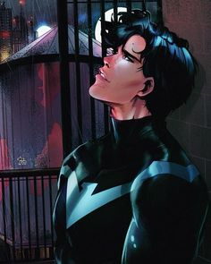 Kai Fine Art is an art website, shows painting and illustration works all over the world. Nightwing Cosplay, Nightwing And Starfire, Batman Comic Art, Batman Comics, Dc Comics, Funny Batman, Batman Batman, Nightwing Wallpaper, Nightwing Young Justice