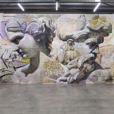 PichiAvo Graffiti Art X Greek Mythology Classical Art Urban - Beautiful giant murals greek gods pichi avo