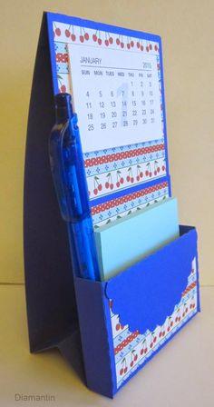 Notizhalter mit Kalender