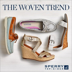 Get with the trend!! #wovens #sperrytopsider
