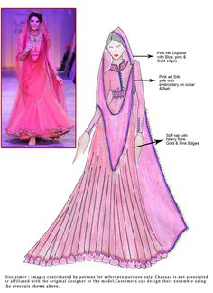 DIY Jacqueline Pink Anarkali Suit