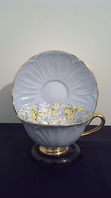 BEAUTIFUL!! SHELLEY BONE CHINA ENGLAND FLORAL CHINTZ GOLD TRIM CUP AND SAUCER