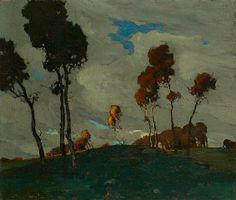 Jonas Lie (1880-1940) - Autumn Sunset