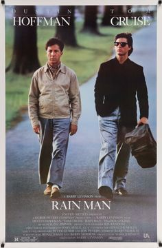 "Rain Man (1988) Vintage Movie Poster - Dustin Hoffman & Tom Cruise - 27""x 41"""