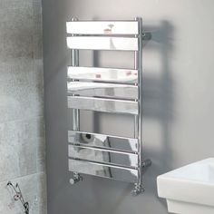 Lorenzo Beta Heat 800 x 450 Heated Towel Rail  - Stainless Steel Bathroom Radiators - Better Bathrooms