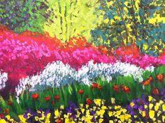 Acrylic on canvas Bright Flowers, Artist Painting, Landscape Paintings, Canvas, Artwork, Glitter Flowers, Tela, Work Of Art, Auguste Rodin Artwork