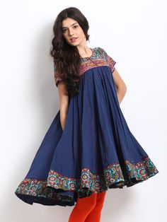 Women Navy Kurta https://www.facebook.com/nikhaarfashions