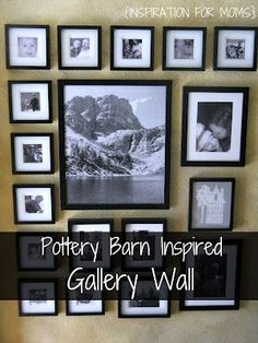 How to create your own Pottery Barn inspired wall gallery