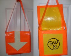 Airbender duct tape bag, from Avatar: The Last Airbender. The arrow glows in the dark