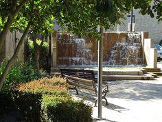 Waterfall park in Summit, NJ