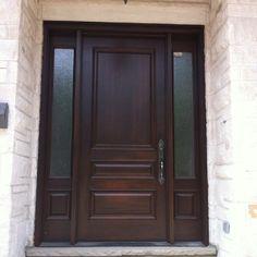 Fiberglass Entry Door House, Front Porch Decorating, Fiberglass Entry Doors, House Exterior, House Doors, House Styles, Doors And Floors, Front Entry Doors, Front Door Design