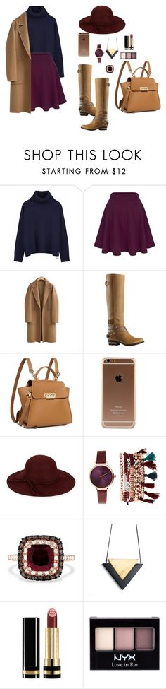 """""""Autumn."""" by galia-ivanova ❤ liked on Polyvore featuring Ille De Cocos, WithChic, SOREL, ZAC Zac Posen, COLLECTION 18, Jessica Carlyle, Effy Jewelry, Gucci and NYX"""