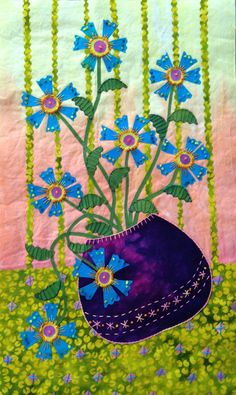 Vase on the Table #2 by Laura Wasilowski