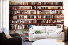 i want to decorate my whole house with books!
