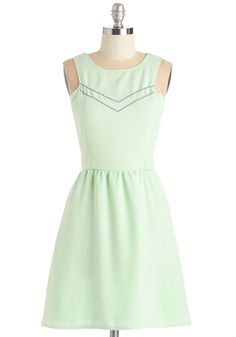 Yes to Finesse Dress. Youll agree that this pastel mint-green dress is just the piece of panache youve been looking for! #mint #modcloth