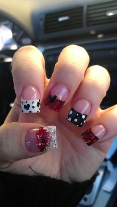 Disney Nails by Chelsea/Rockstar Nails I'm not big on fancy nails but these are kinda cute :-)