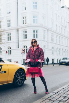 """The source for fashion inspiration from real people around the world. Community """"hype"""" promotes looks to the front page. Pink Tweed Jacket, Trendy Fashion, Spring Fashion, Fashion Ideas, Fashion Inspiration, Copenhagen Fashion Week, Edgy Chic, Denim Outfit, Minimalist Fashion"""