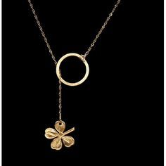 Four Leaf Clover Necklace | katyelliott.com  **Absolutely LOVE this, but in silver.