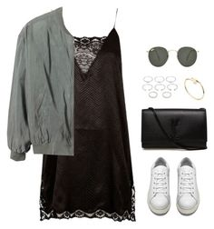 Sans titre #1004 by romane-inspiration on Polyvore featuring polyvore moda style River Island Monki Acne Studios Yves Saint Laurent Forever 21 Cartier Ray-Ban fashion clothing
