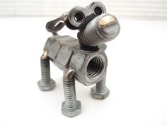 Nuts and Bolts Dog Sculpture