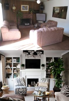 WOW! Before and After- Family Room Good to remember when house hunting!